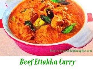 Beef Ettakka Curry