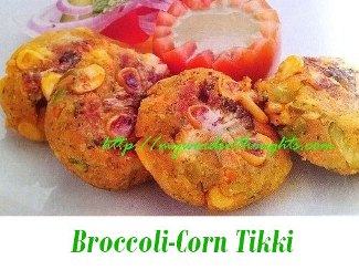 Broccoli-Corn Tikki