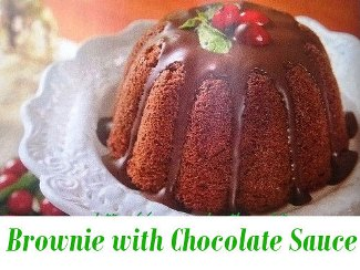 Brownie with Chocolate Sauce