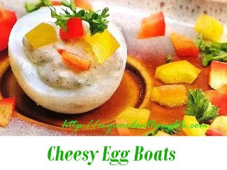 Cheesy Egg Boats