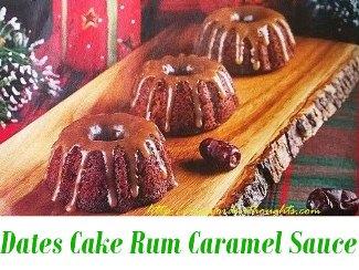 Dates Cake with Rum Caramel Sauce
