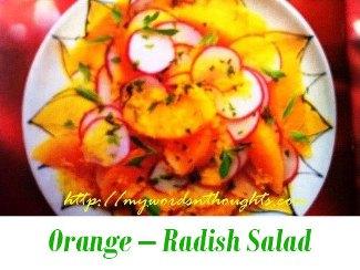 Orange Radish Salad