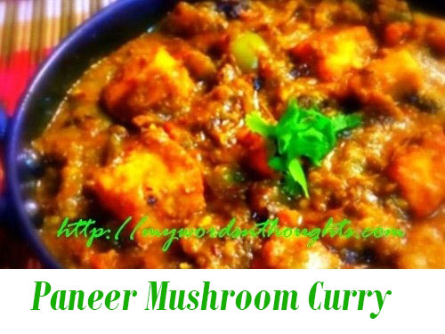 Paneer Mushroom Curry