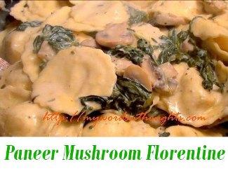 Paneer Mushroom Florentine