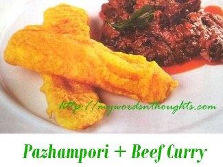 Pazhampori + Beef Curry