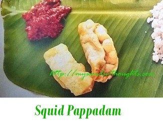 Koonthal pappadam