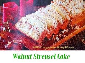 Walnut Streusel Cake