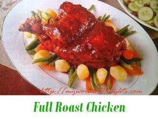 full chicken roast