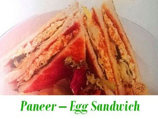 paneer egg sandwitch