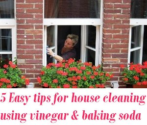 cleaning using vinegar and baking soda