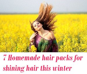 Homemade hair packs