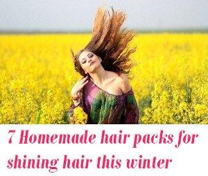 Homemade hair packs
