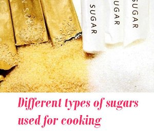 types of sugars used for cooking
