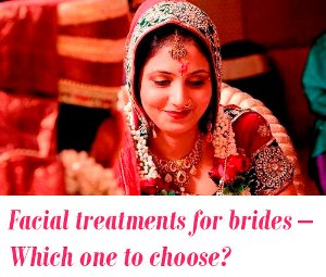 Facial treatments for brides