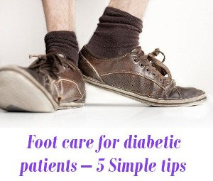 Foot care for diabetic patients