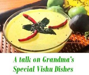 Grandma's tastes of vishu