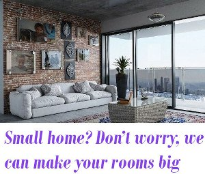 how to make a small home appear spacious