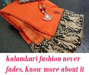 Kalamkari fashion in saree