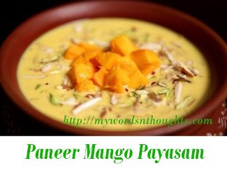 Paneer Mango Payasam
