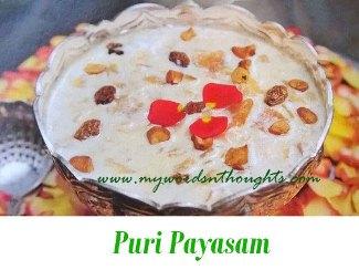 Puri Payasam