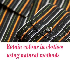 Retain colour in clothes