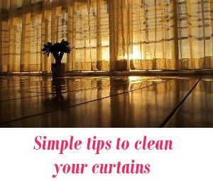 clean your curtains