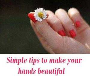 hands beautiful tips