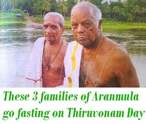 Aranmula go fasting on Thiruvonam