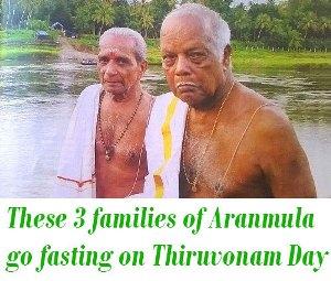 Aranmula go fasting on Thiruvonam