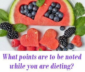 while you are dieting