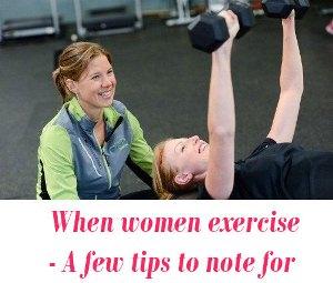 When women exercise