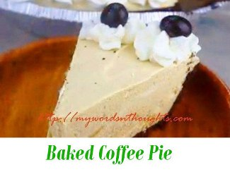 baked coffee pie