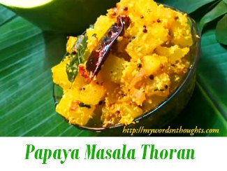papaya masala thoran