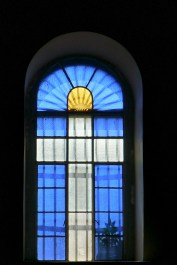 Window on the right wing of the Basilica of St. Martin of Tours