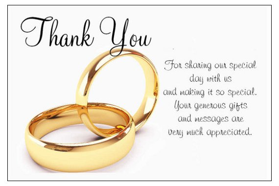 Wedding Day Thank You Poems