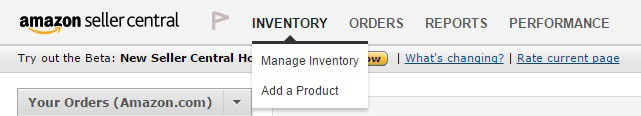 elenca l'inventario su Amazon Seller Central