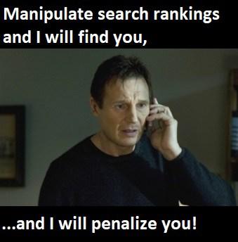 cos'è una sanzione per google