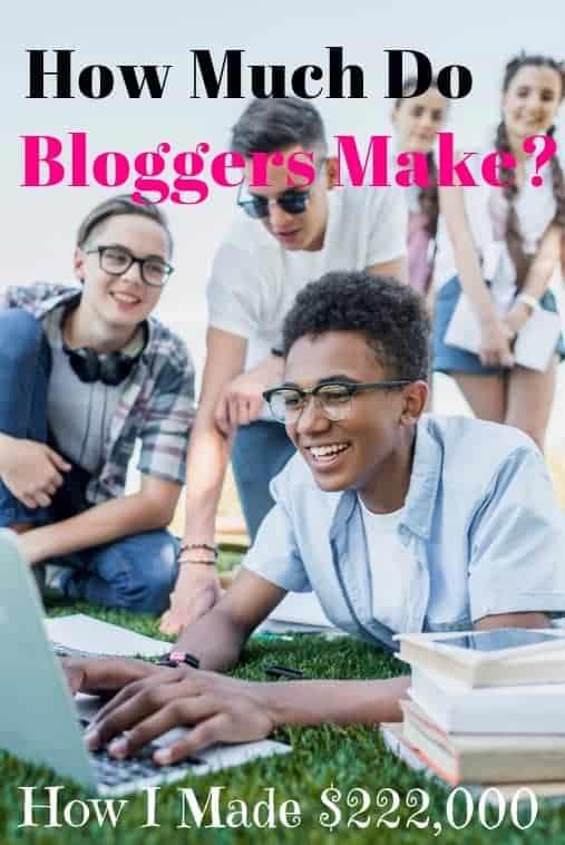 quanto fanno i blogger in un anno