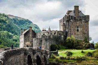On the way back from Skye we stopped and went into Eilean Donan Castle, one of Scotland's most famous and scenic sites.