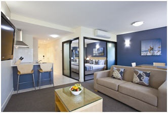 Living room in a 1-Bedroom apartment at Wyndham Coffs Harbour -Treetops