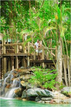 Ramada Port Douglas grounds and waterfall