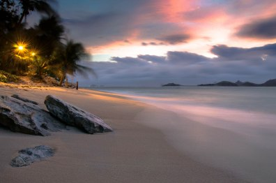 Grab your lover and take a sunset stroll along the beach and marvel at natures colour and light show