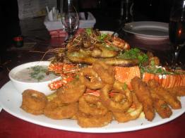 Just the best seafood basket you could ask for.