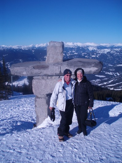 Top of Whistler, enjoying the sights before skiing. Cascade Lodge was great, would recommend to anyone.
