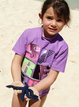 Our daughter was amazed when we visited Tivau Island when she found her first starfish
