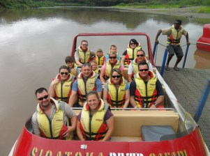 Getting ready for some fast jet boating down the River at Sigatoka