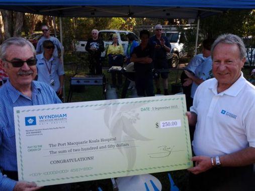 Bob, President of Koala Hospital and Tony Terlecki of WVRAP