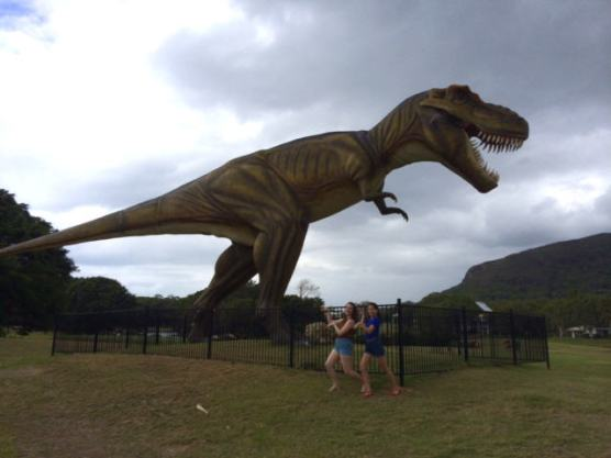 Jeff the T-Rex at Palmer Coolum Resort