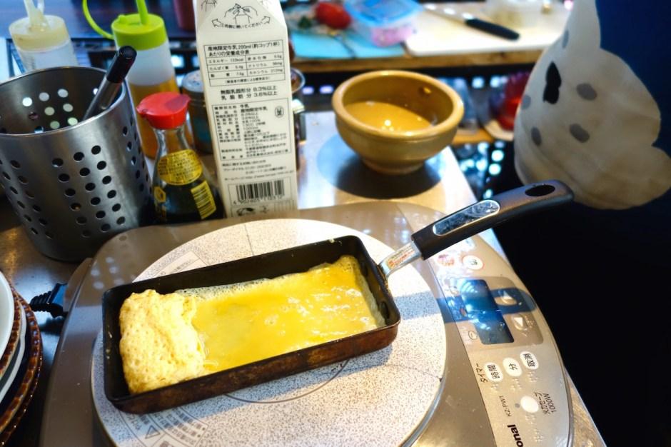 Japanisches Frühstück Tamago Yaki