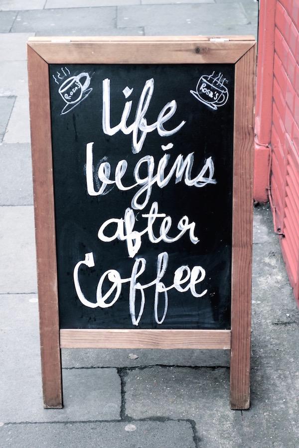 Kaffeeschild, London